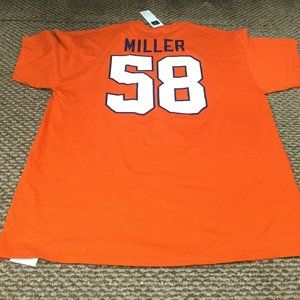 NWT Denver Broncos Von Miller Orange NFL T-Shirt
